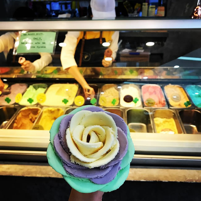 Ice Cream Shop In Sydney Transforms Frozen Gelato Into Pretty Flowers